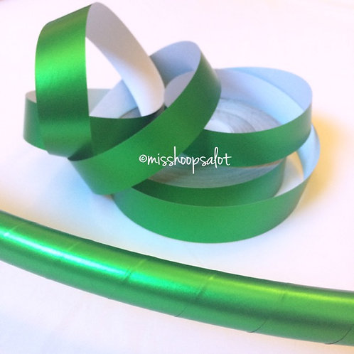Lime Green Satin Luster Taped Performance Hoop