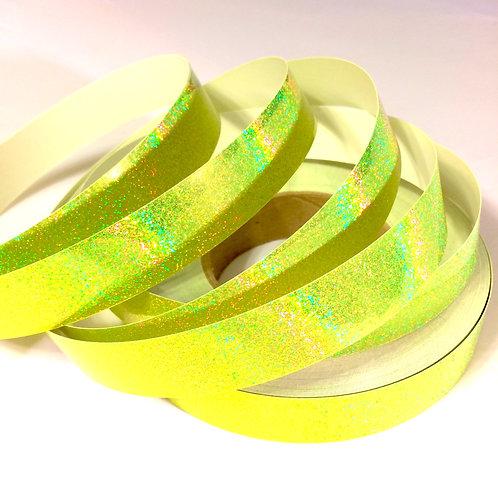 Fluorescent Yellow Sequin Taped Hoop