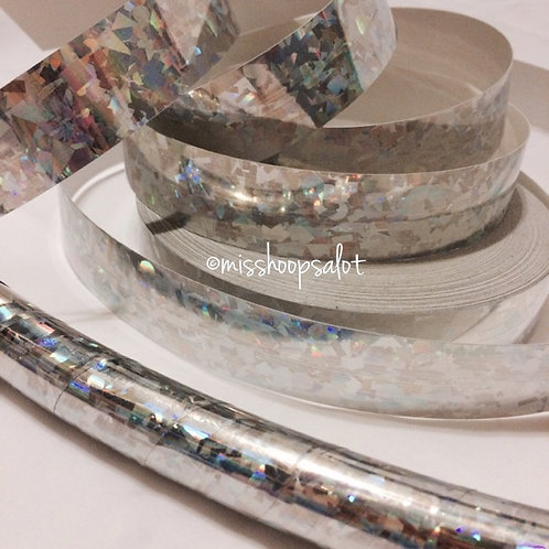 Silver Crystal Confetti Taped Hoop