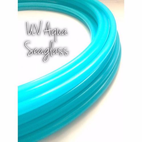 "READY TO SHIP: 35"" 3/4"" Aqua Seaglass Polypro Hoop"