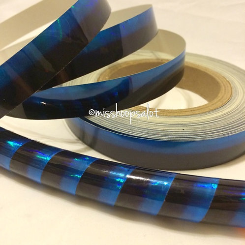Blue Raspberry Ombre Taped Hoop