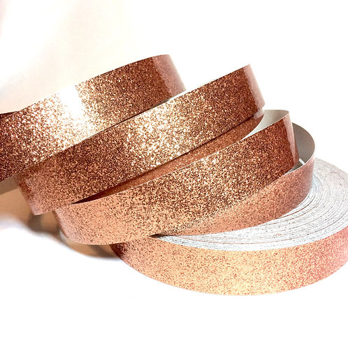 Metallic Copper Glitter Flake Taped Hoop