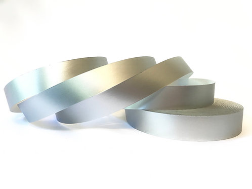 Silver Satin Luster Taped Hoop