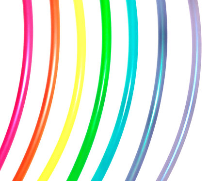 """Colored Mini Hoops- up to 24"""""""