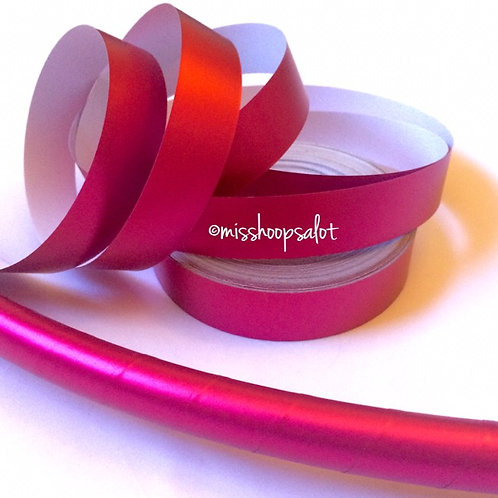 Hot Pink Satin Luster Taped Hoop