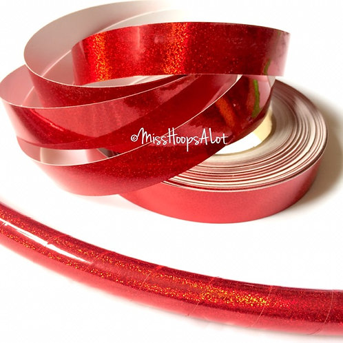 Cherry Red Sequin Taped Hoop