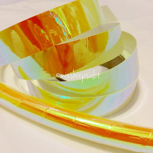 Yellow Sunburst Color Shifting Taped Hoop