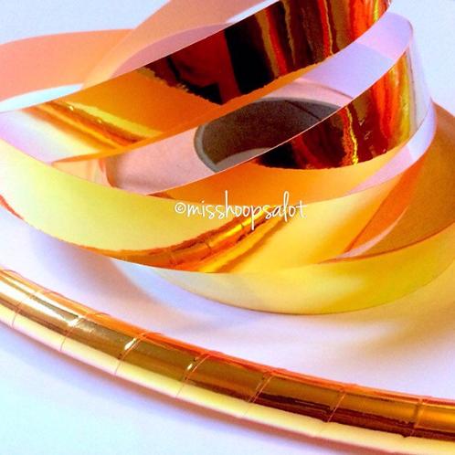 UV Orange Superfly Color Shifting Taped Hoop
