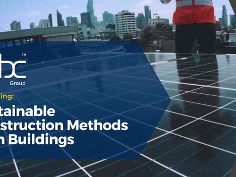 Webinar: Sustainable Construction Methods