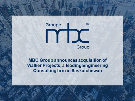 MBC Group acquires Walker Projects, an industry leading Engineering Consulting & Project Management