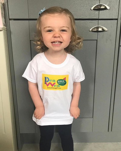 Eva is loving her Pea Wea Golf shirt and