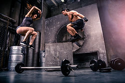 Athletes training in a gym - Functional