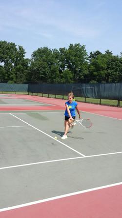 Justina showing skill