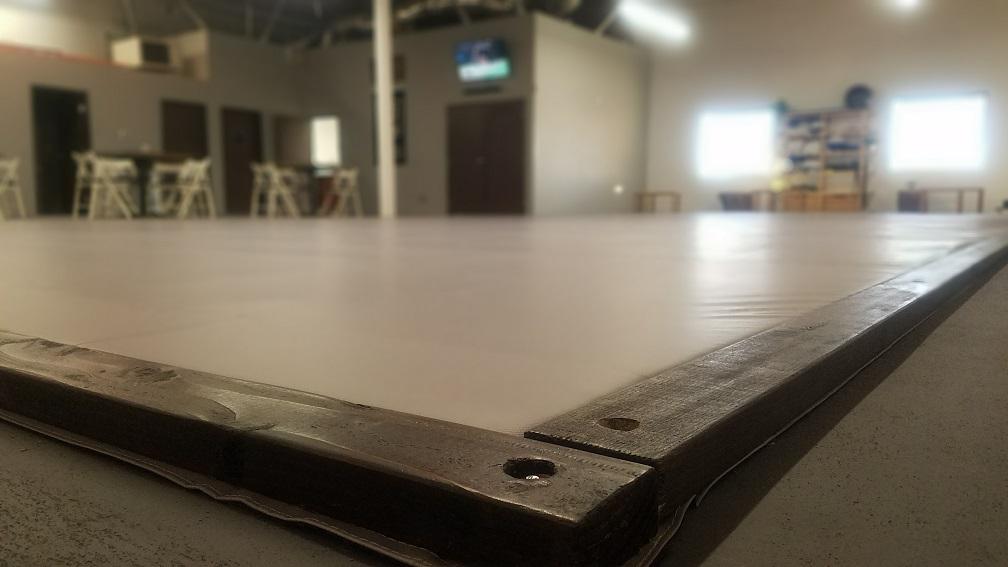 Grappling mat area