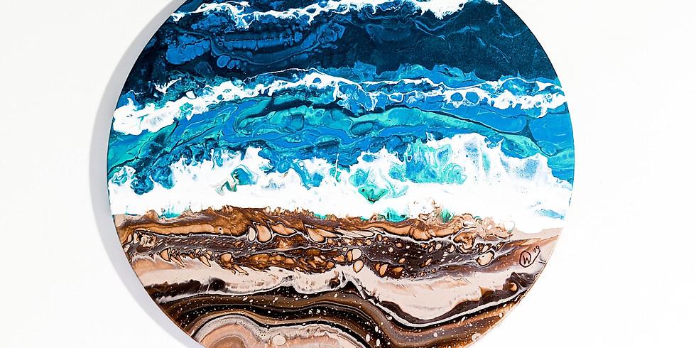 Fluid Art Beach Painting - Victoria, B.C.