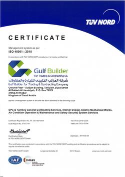 ISO 45001 Certficate 44 126 19570004 Gul