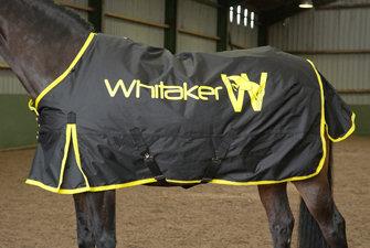R047 - Whitaker Black & Yellow 120g Turnout Rug