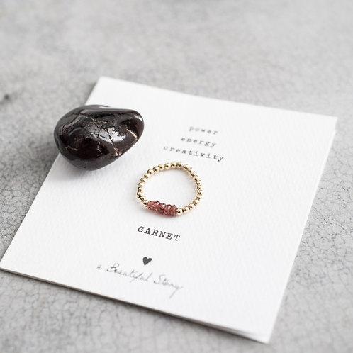 Beauty Granat Gold Ring
