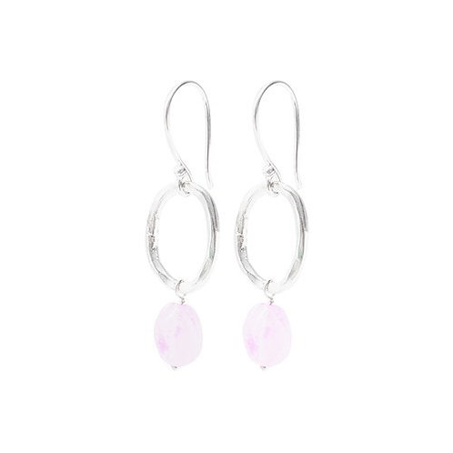 Graceful Rose Quartz Earring