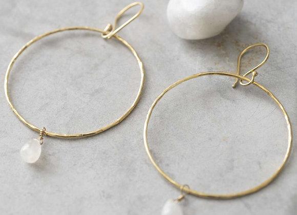 Embrace Mondstein Gold Ohrringe