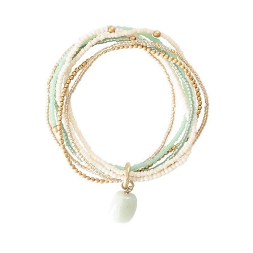 Nirmala Aventurine Gold Bracelet