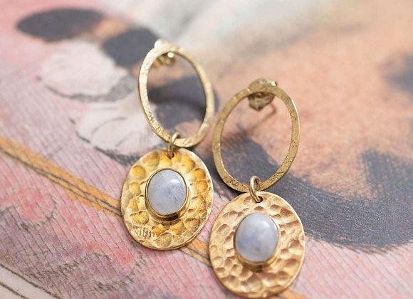 Thankful Moonstone Earrings