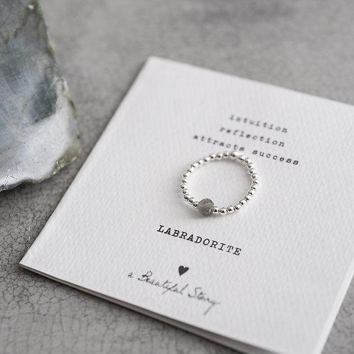 Sparkle Labradorit Silber Ring