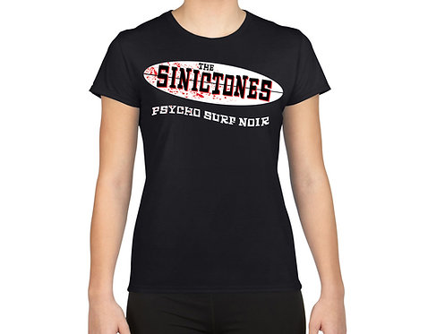 The SinicTones Logo. T-shirt. Unisex/black