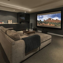 movie-playing-on-projection-screen-in-ho