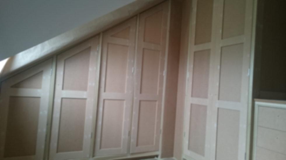 MDF built cupboards built