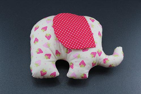 Stoffelefant Erdbeer