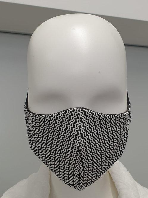 Gesichtsmaske schwarz-weiss