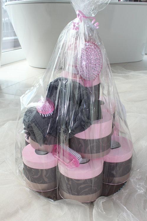 WC-Papiertorte rosa