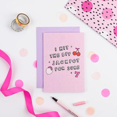 Pink Positive - BFF Card