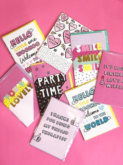 Everyday sends Greetings Card Bundle One