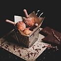 Cinnamon Donuts w/ Chocolate Sauce