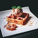 Buttermilk Waffle w/ One scoop of Ice Cream