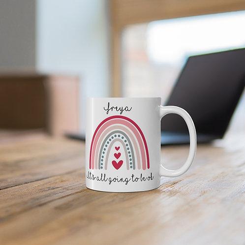 Personalised Inspirational Mug - Rainbow