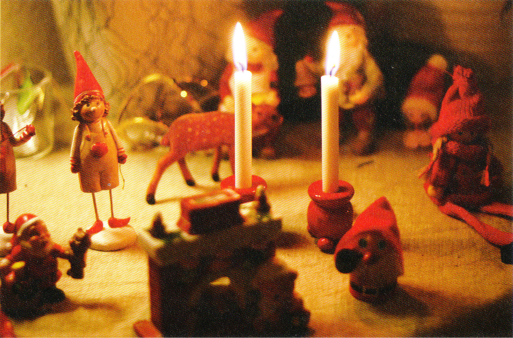 クリスマスに工芸を灯して