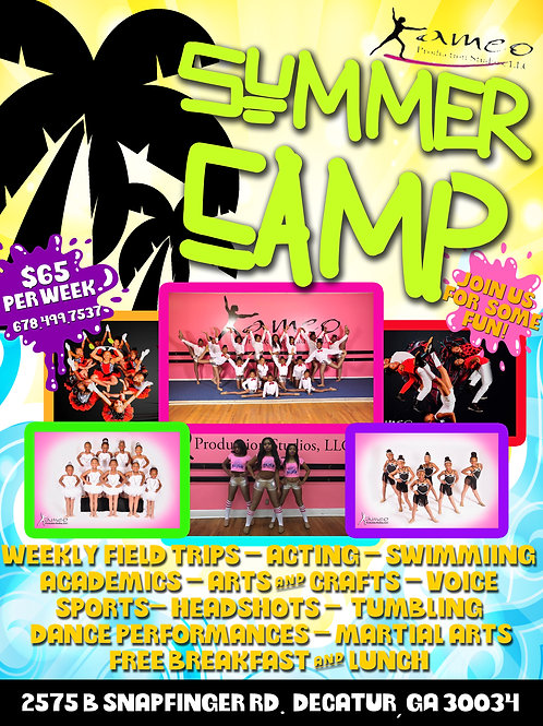 Kameo Production Studios Summer Camp Weekly fee