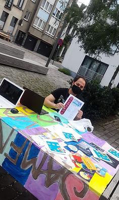 Mobiele digi-tafel Samenlevingsopbouw Borgerhout