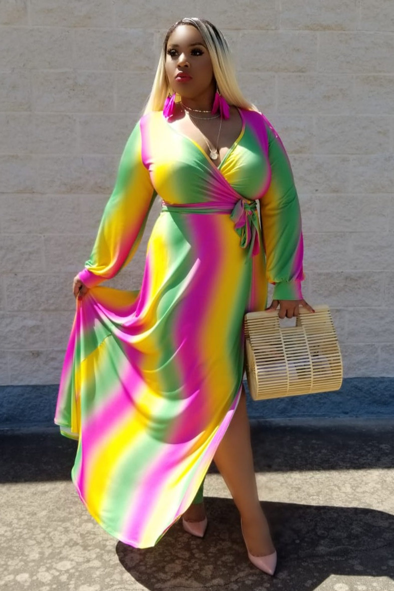 Style# 041241/curvaceous/neon green and pink