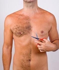 Depilação masculina - Aparar os pelos