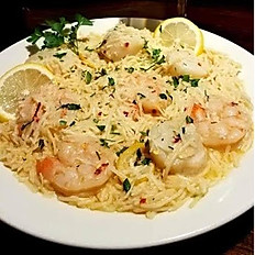 Lemon & Garlic Shrimp Pasta