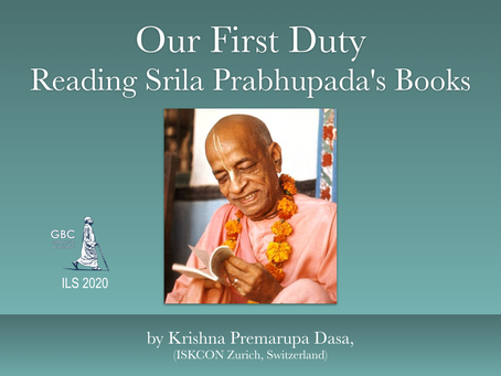 Krishna Prema's Food for Thought 2020 # 7 - I Live in My Books