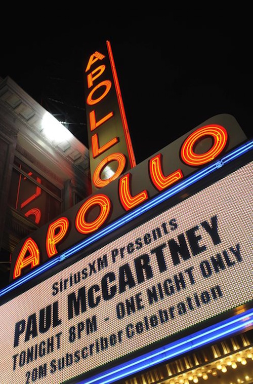 Paul McCartney at The Apollo