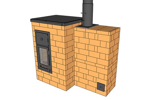B14 avec mur de chauffe