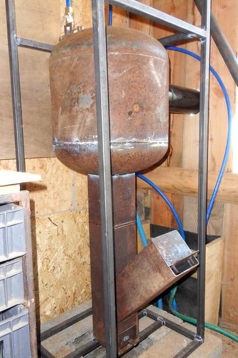 Un Rocket stove pour chauffer de l'eau