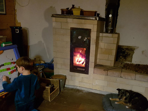 Un B14 V3 avec banc coté cheminée par Guy Q.