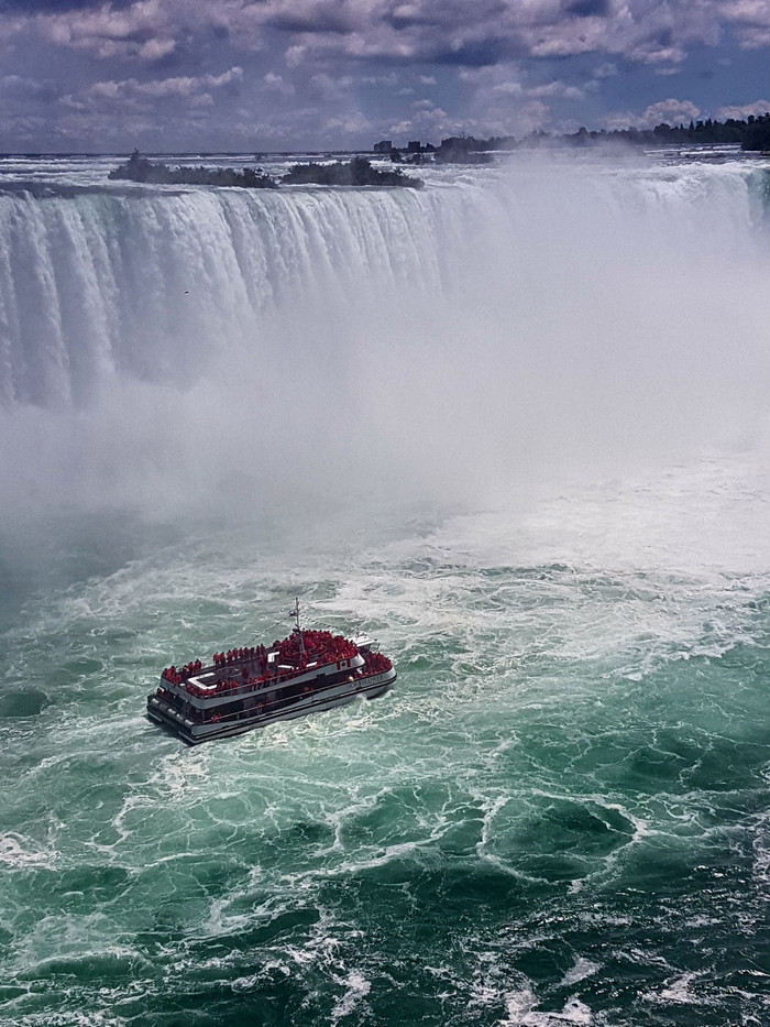 In awe over the falls